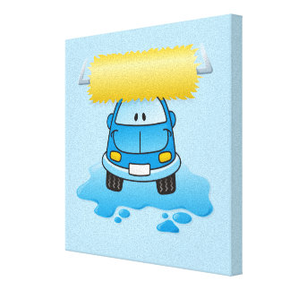 Carwash cartoon canvas print