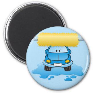 Carwash cartoon magnet