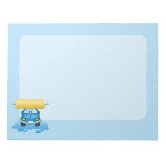 Carwash cartoon notepad