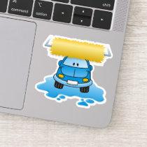 Carwash Cartoon Sticker