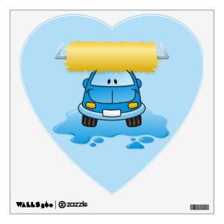 Carwash cartoon wall sticker