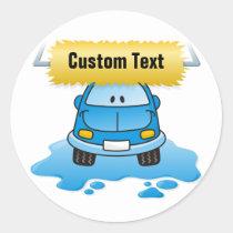 Carwash Classic Round Sticker