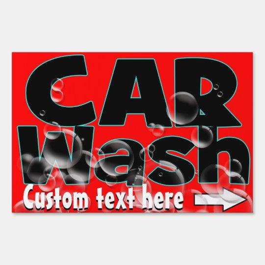 Carwash de Washington del coche. Limpieza auto. Cartel