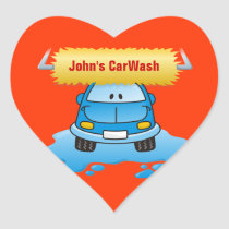 Carwash Heart Sticker