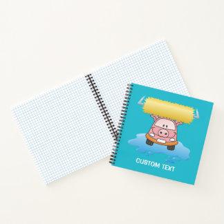 Carwash pig cartoon notebook