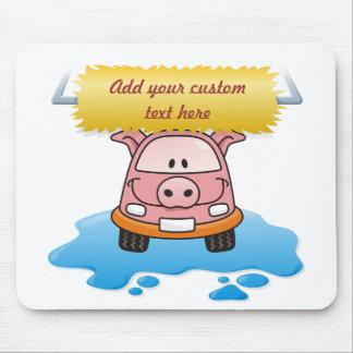 Carwash Pig Mouse Pad