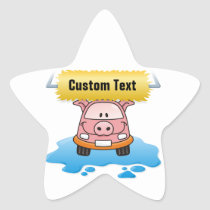 Carwash Pig Star Sticker