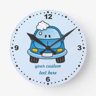 Carwash Round Clock