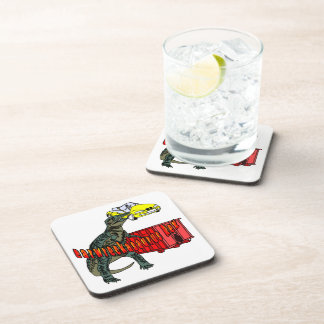 Carwreckasaurus Rex Beverage Coaster