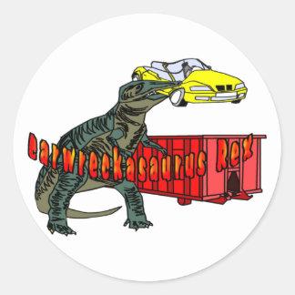 Carwreckasaurus Rex Classic Round Sticker