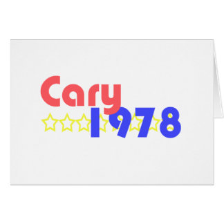 Cary 1978 card