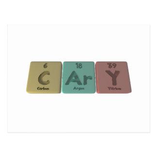 Cary as Carbon Argon Yttrium Postcard