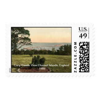 Cary Castle View Channel Islands, England 1905 Postage