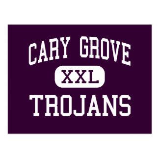Cary Grove - Trojans - High School - Cary Illinois Postcard