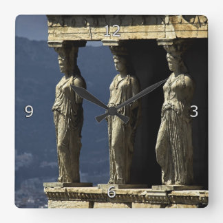 Caryatids Acroplis Athens Wallclocks