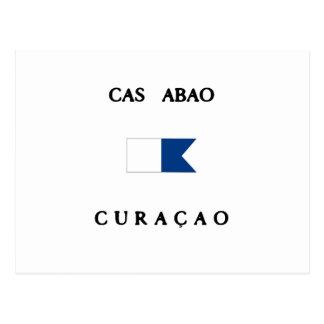 Cas Abao Curacao Alpha Dive Flag Postcard