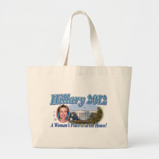 Casa 2012 de Hillary Bolsa Tela Grande