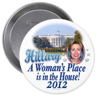 Casa 2012 de Hillary Pin Redondo De 4 Pulgadas