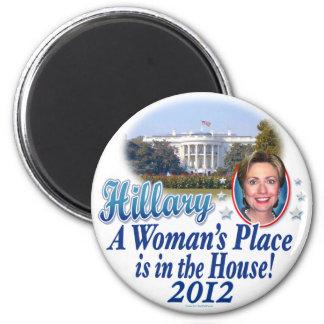 Casa 2012 de Hillary por ButtonZUP Iman De Frigorífico