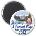 Casa 2012 de Hillary por ButtonZUP Imán Redondo 5 Cm
