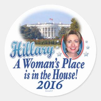 Casa 2016 de Hillary Etiqueta Redonda