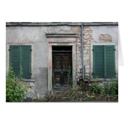 Casa abandonada, Basilea, Suiza Tarjeta De Felicitación