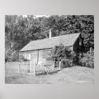 Casa abandonada de la granja colina roja puerto poster