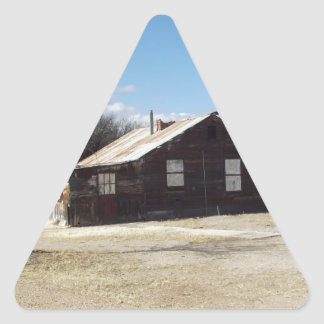 Casa abandonada del fantasma pegatina triangular