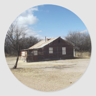 Casa abandonada del fantasma pegatina redonda