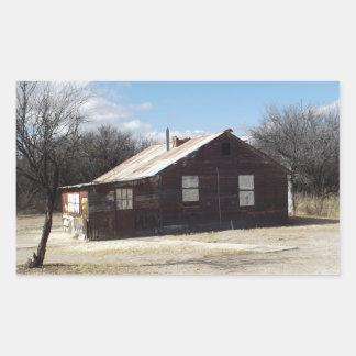 Casa abandonada del fantasma pegatina rectangular