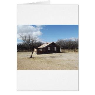Casa abandonada del fantasma tarjeta de felicitación