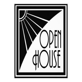Casa abierta blanco y negro elegante del art déco