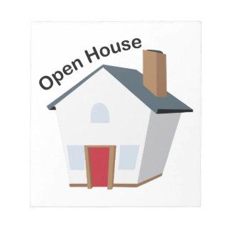 Casa abierta libretas para notas