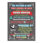 Casa abierta de la diversión del navidad estupendo comunicados personalizados
