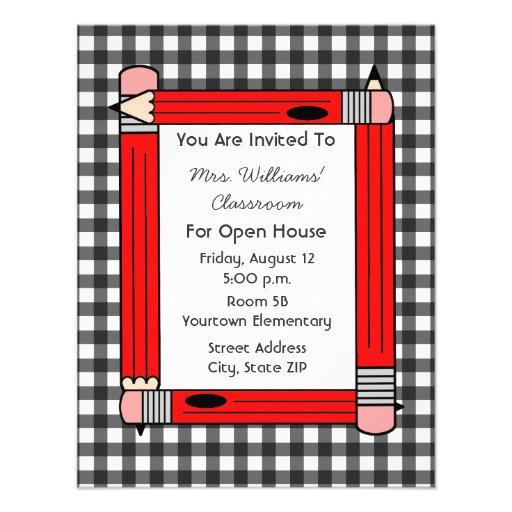 Casa abierta de la sala de clase: Lápices rojos, g Anuncios