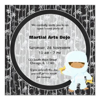 """Casa abierta de los artes marciales invitación 5.25"""" x 5.25"""""""