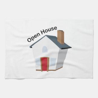 Casa abierta toalla de cocina