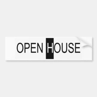 casa abierta pegatina para auto