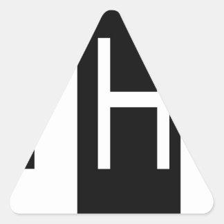 casa abierta pegatina triangular