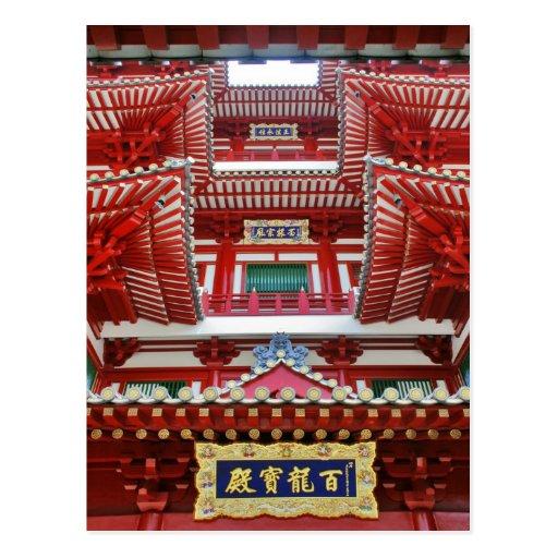 Casa adornada en Chinatown Tarjetas Postales