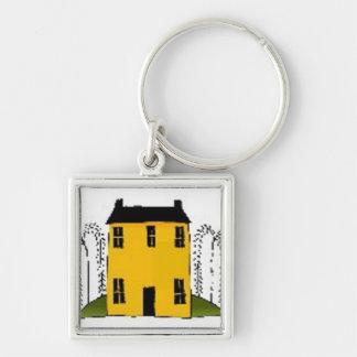 Casa amarilla - llavero