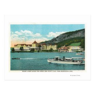 Casa anexo y club náutico del Mt Kineo Tarjetas Postales