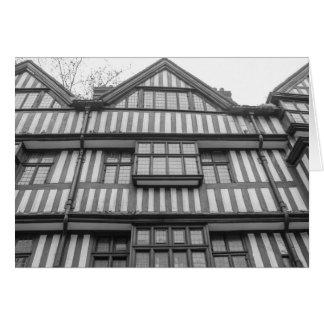 Casa antigua de Tudor en Londres Felicitacion