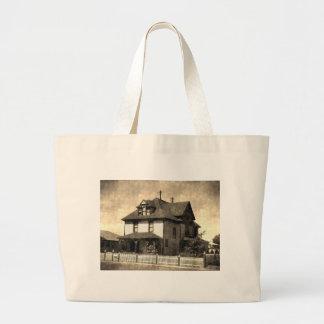 Casa antigua majestuosa bolsa tela grande