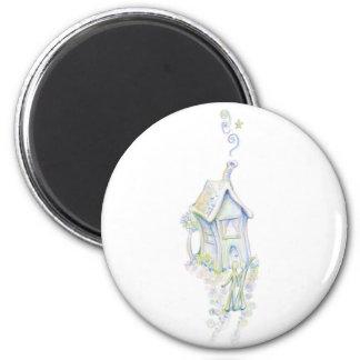 Casa armoniosa imán redondo 5 cm