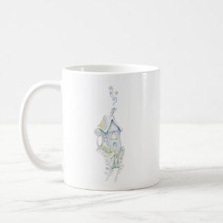 Casa armoniosa taza básica blanca