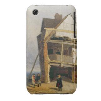 Casa arruinada, c.1807-10 (aceite en el cartón funda para iPhone 3 de Case-Mate