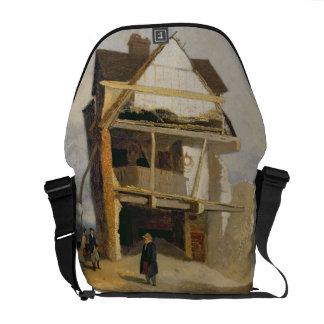 Casa arruinada, c.1807-10 (aceite en el cartón par bolsa messenger