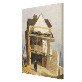 Casa arruinada, c.1807-10 (aceite en el cartón par lienzo envuelto para galerías