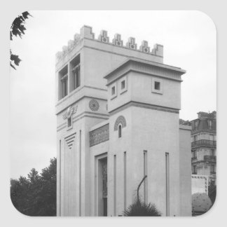 Casa asiria, exposición universal, París Pegatina Cuadrada